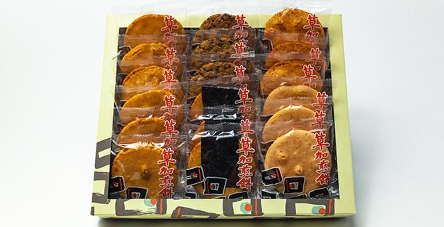 【草加煎餅】5種18枚入り