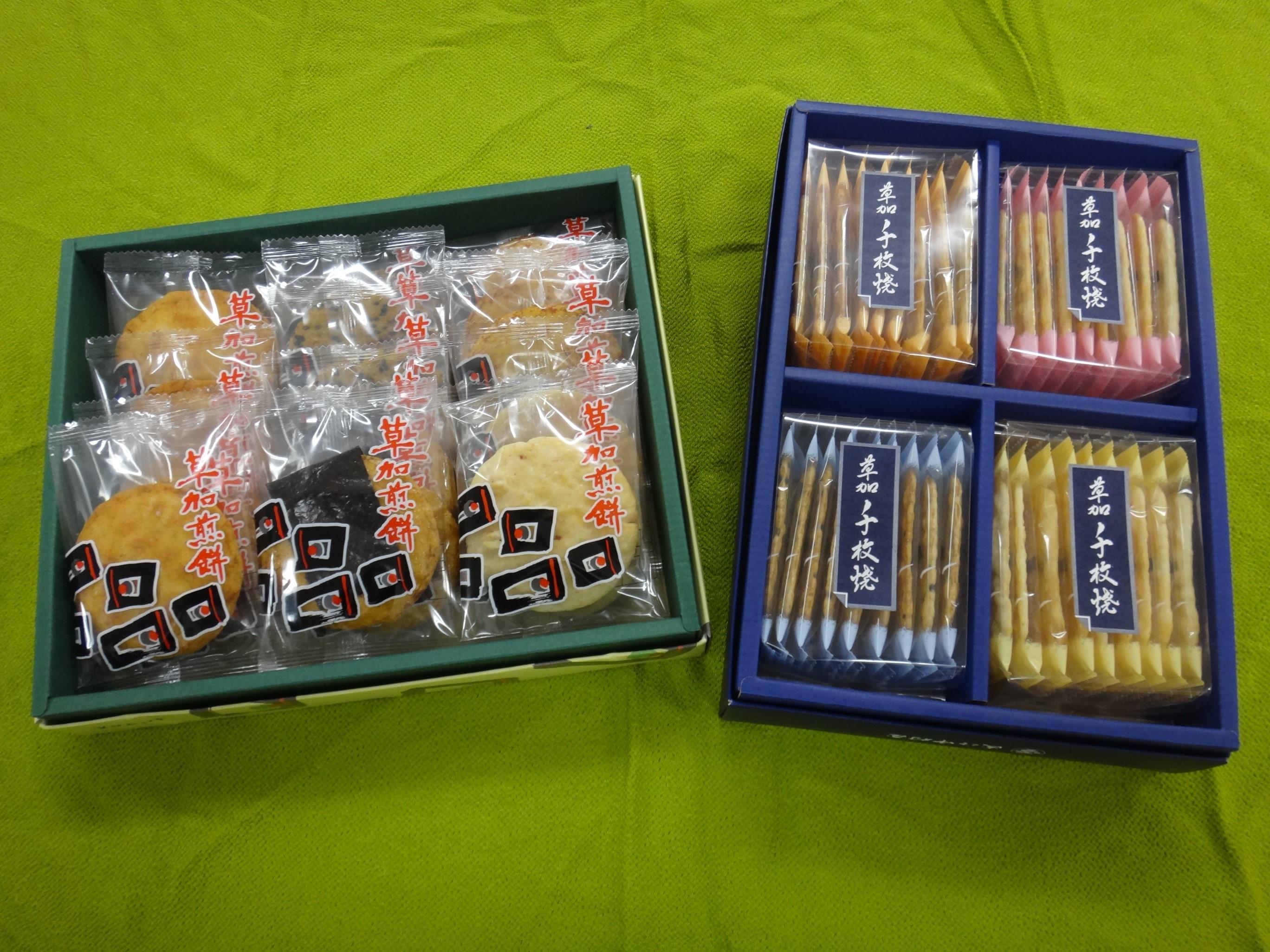 【お買い得商品!】草加煎餅・草加千枚焼セット